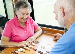elderly playing backgammon - Testimonials